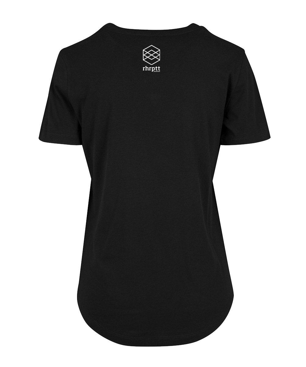 rhrptt t-shirt fit tee rundmc schwarz brandlogo hinten