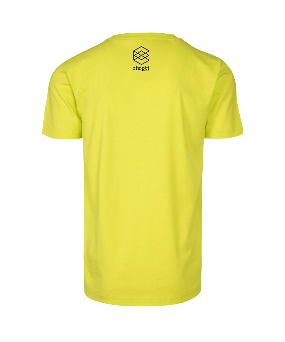 rhrptt t-shirt straight outta rhrptt frozen yellow brandlogo hinten