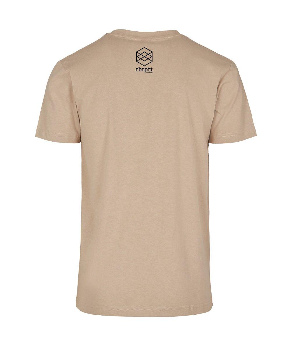 rhrptt t-shirts lebe und liebe rhrptt sand brandlogo hinten