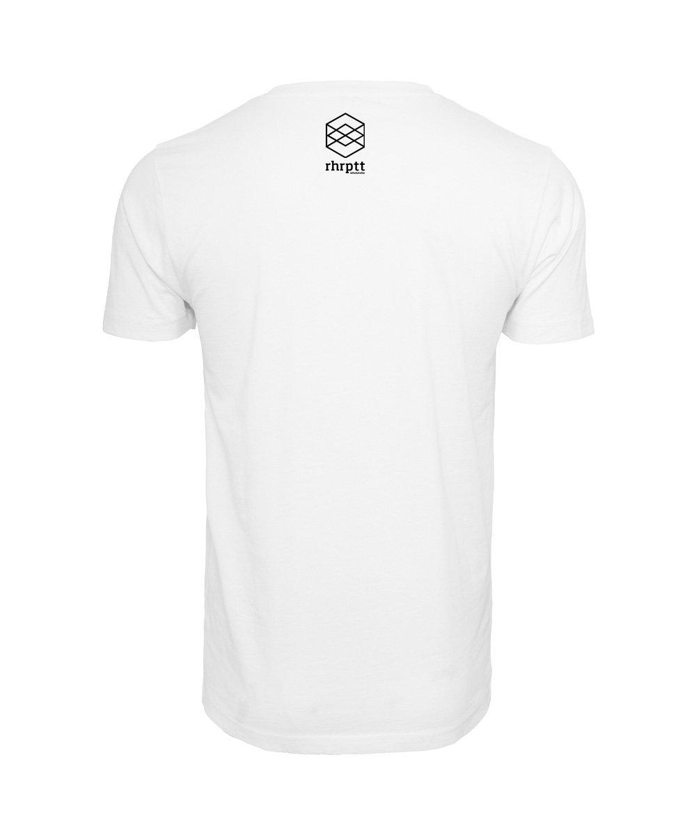 rhrptt t-shirts lebe und liebe rhrptt weiss brandlogo hinten