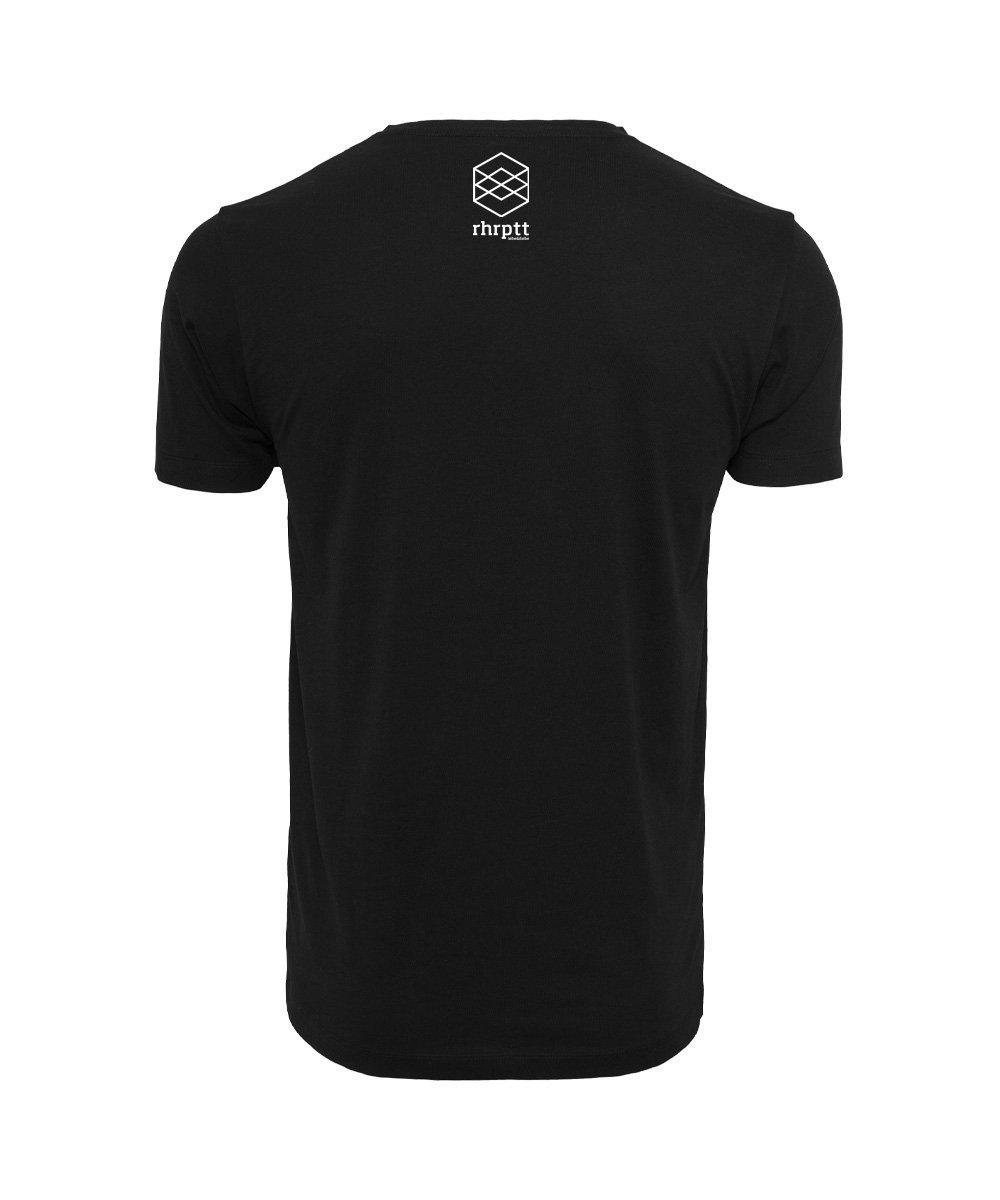 rhrptt t-shirt schwarz brandlogo hinten