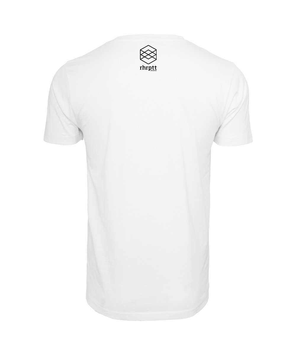 rhrptt t-shirt weiss rundmc brandlogo hinten
