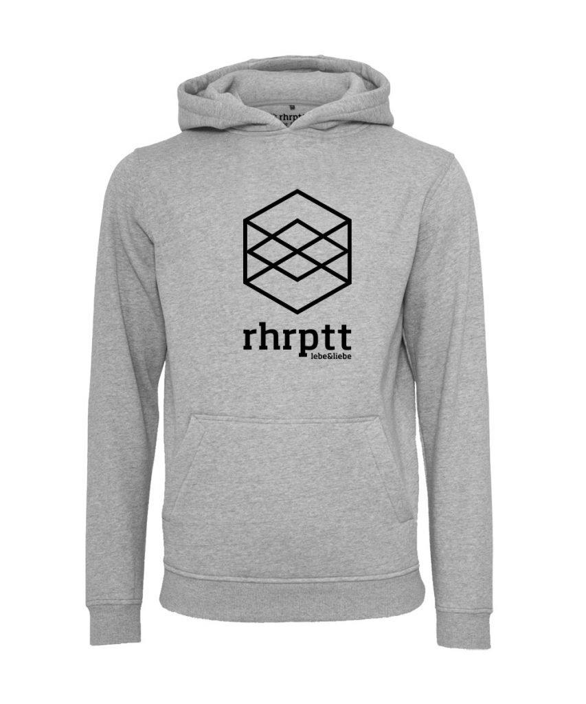 rhrptt hoodie lebe liebe rhrptt gross heather grey grau