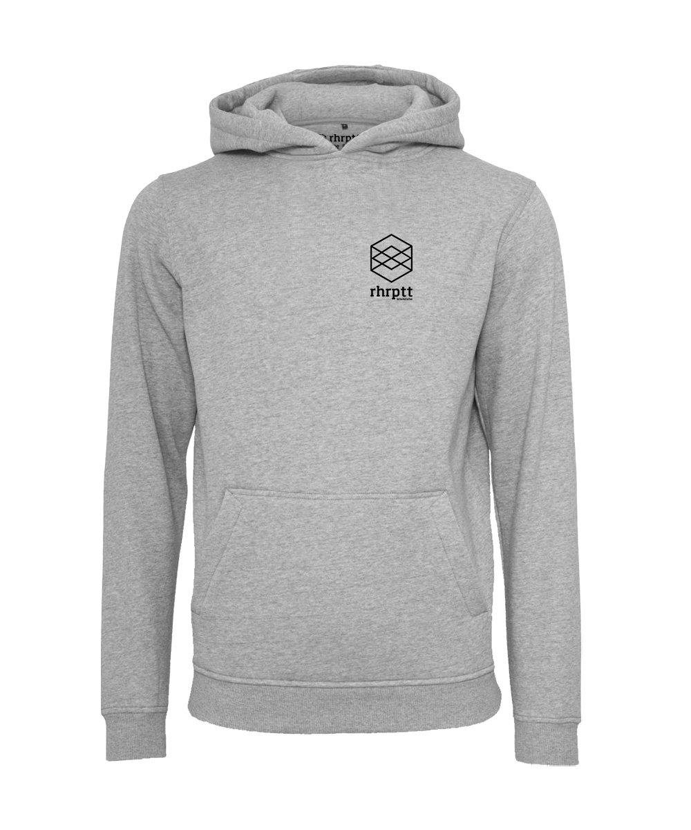 rhrptt hoodie lebe liebe rhrptt klein heather grey grau