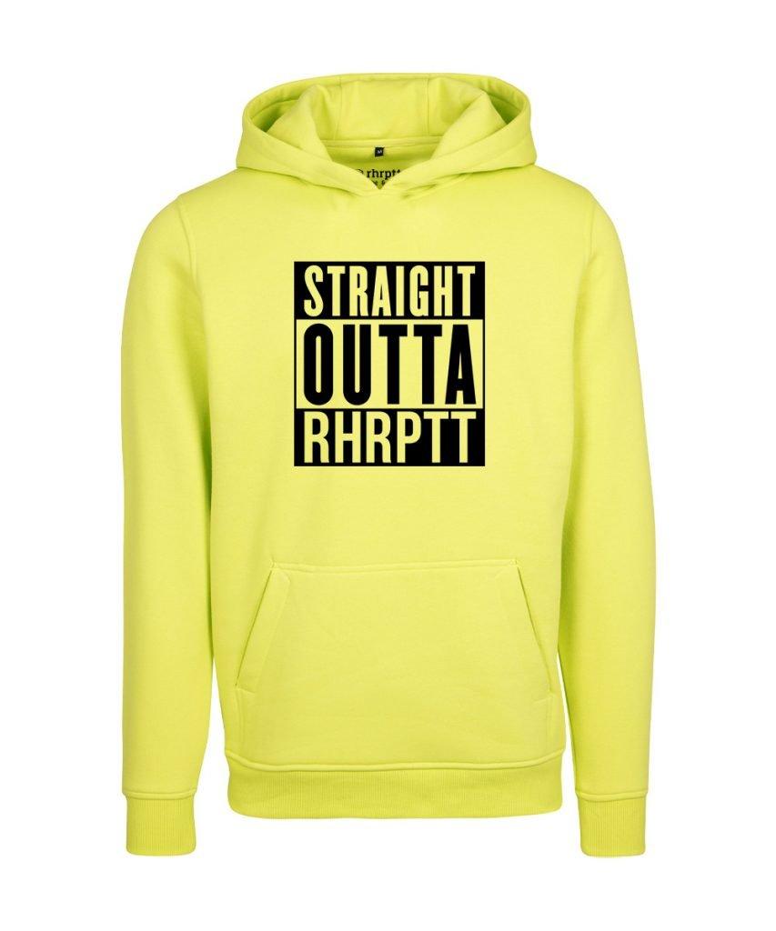 rhrptt hoodie straight outta rhrptt gross frozen yellow gelb