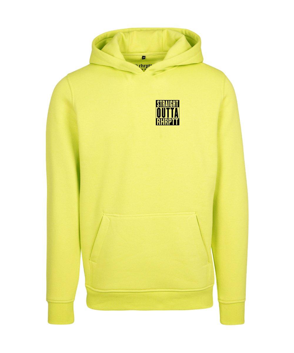 rhrptt hoodie straight outta rhrptt klein frozen yellow gelb