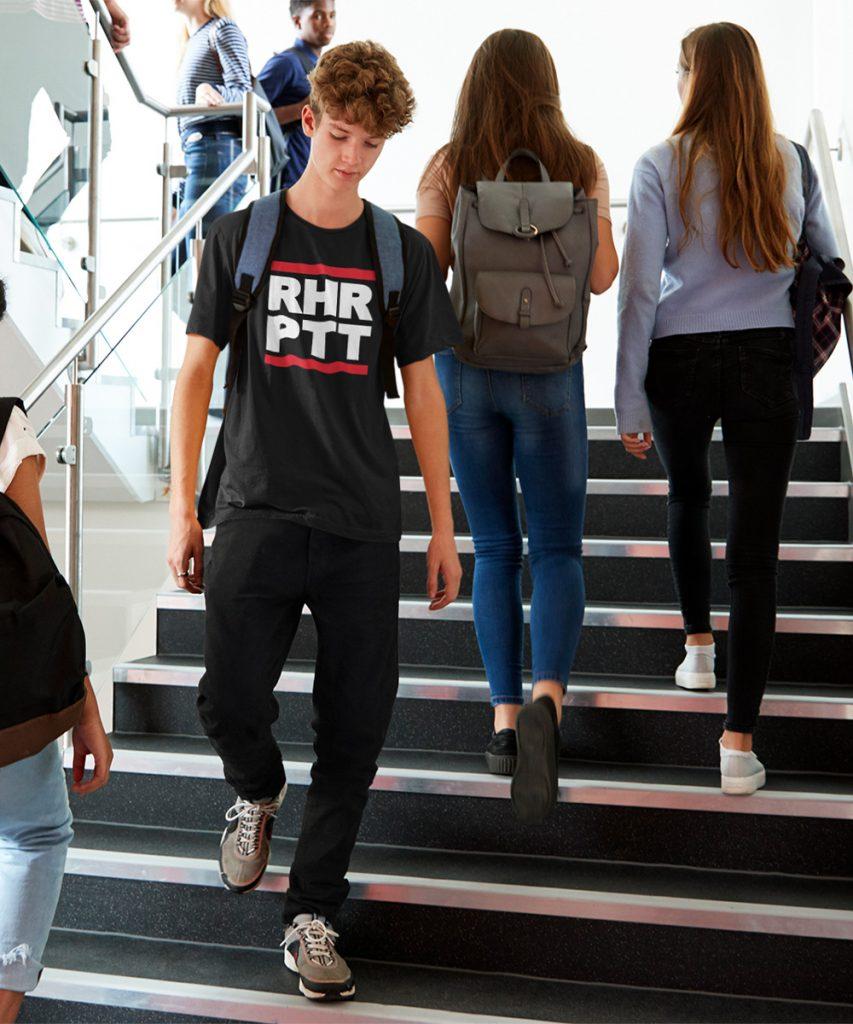 rhrptt ruhrpott kinder t-shirt schwarz